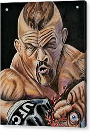 The Iceman Knocks Out A Guys Eye. Acrylic Print