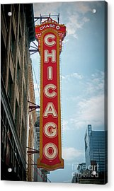 The Iconic Chicago Theater Sign Acrylic Print