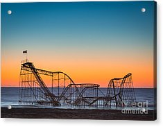 The Iconic Star Jet Roller Coaster Acrylic Print by Michael Ver Sprill