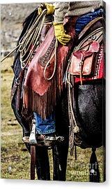 The Idaho Cowboy Western Art By Kaylyn Franks Acrylic Print