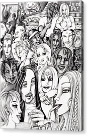 The In Crowd Acrylic Print