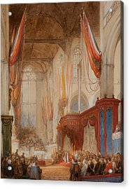 The Inauguration Of King Willem IIi Acrylic Print by Johannes Bosboom