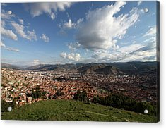 Acrylic Print featuring the photograph The Inca Capital Of Cusco by Aidan Moran
