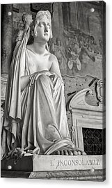 The Inconsolable Statue At Pisa Acrylic Print