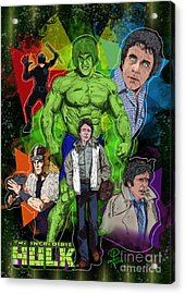 The Incredible Hulk Acrylic Print by Joseph Burke