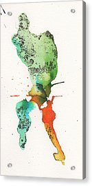 The Inexplicable Ignition Of Time Expanding Into Free Space Phase Two Number 24 Acrylic Print by Mark M  Mellon