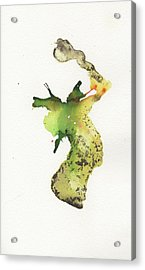 The Inexplicable Ignition Of Time Expanding Into Free Space Phase Two Number 26 Acrylic Print by Mark M  Mellon