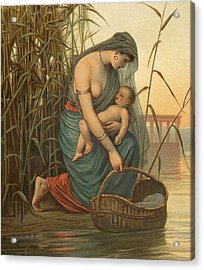 The Infant Moses And His Mother Acrylic Print