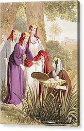 The Infant Moses Is Found In The Acrylic Print