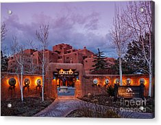The Inn At Loretto At Twilight - Santa Fe New Mexico Acrylic Print