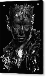 Acrylic Print featuring the digital art The Inner Demons Coming Out by ISAW Company