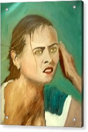 The Intense Girl Acrylic Print by Peter Gartner
