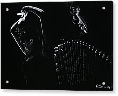 The Intensity Of Flamenco Acrylic Print by Richard Young