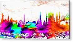 The International Skyline Acrylic Print