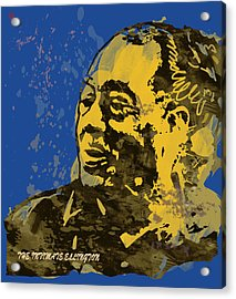 The Intimate Ellington Pop Stylised Art Sketch Poster Acrylic Print by Kim Wang