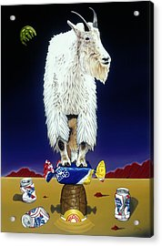 The Intoxicated Mountain Goat Acrylic Print
