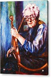 The Irish Violin Maker Acrylic Print by John Keaton