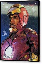 The Iron Avenger Acrylic Print by Joseph Burke