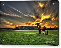 Acrylic Print featuring the photograph The Iron Horse Sunset by Reid Callaway