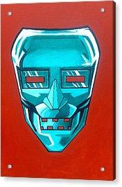 The Iron Mask Acrylic Print by George Penon Cassallo