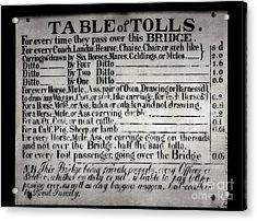 The Ironbridge Tolls Acrylic Print