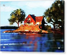 The Island House Acrylic Print by Russell Pierce