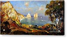 The Island Of Capri And The Faraglioni Acrylic Print
