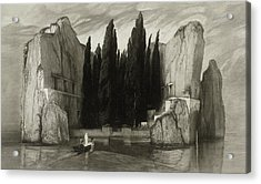 The Isle Of The Dead Acrylic Print by Max Klinger