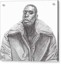 Acrylic Print featuring the drawing The Jacket by Jean Haynes