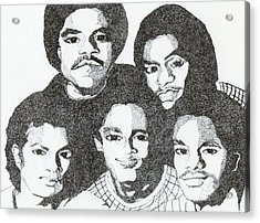 The Jacksons Tribute Acrylic Print