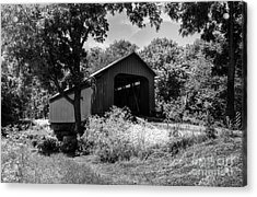 The James Covered Bridge Bw Acrylic Print