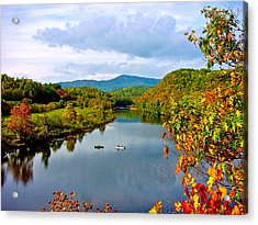 The James River Early Fall Acrylic Print