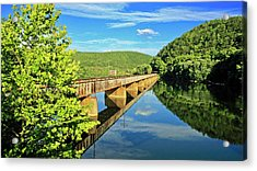 The James River Trestle Bridge, Va Acrylic Print