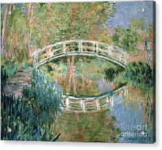 The Japanese Bridge Acrylic Print by Claude Monet