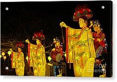 The Japanese Lantern Dancers Acrylic Print