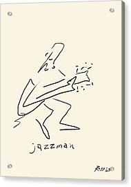 The Jazz Man Acrylic Print