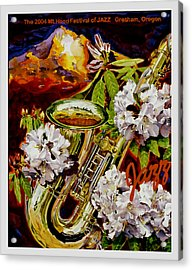 The Jazz Poster That Never Was Acrylic Print by Mike Hill