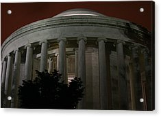 The Jefferson Memorial At Night Acrylic Print by Brian M Lumley