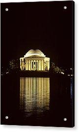 The Jefferson Memorial At Night Acrylic Print by Kenneth Garrett