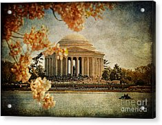 The Jefferson Memorial Acrylic Print by Lois Bryan
