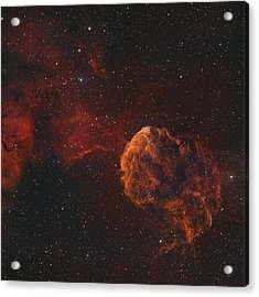 The Jellyfish Nebula Acrylic Print by Rolf Geissinger