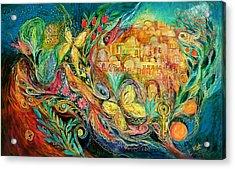 The Jerusalem Key Acrylic Print by Elena Kotliarker