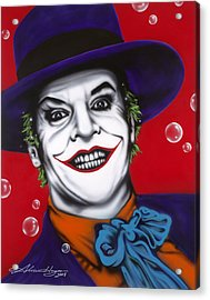 The Joker Acrylic Print by Alicia Hayes
