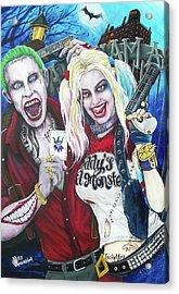 The Joker And Harley Quinn Acrylic Print