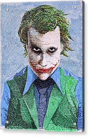 The Joker In His Own Words Acrylic Print