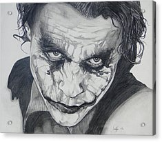 The Joker Acrylic Print by Stephen Sookoo