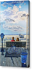 The Jones Beach Boardwalk Acrylic Print by Bonnie Siracusa