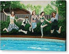 The Joy Of Girls Acrylic Print by Allan OMarra