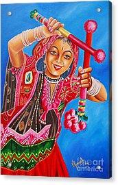 Acrylic Print featuring the painting The Joy Of Life by Ragunath Venkatraman