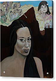 The Judgment Of Casey Anthony The Sacrifice Of Caylee Anthony Acrylic Print by Angelo Thomas